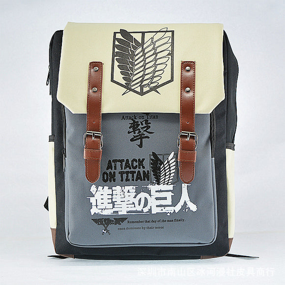 Anime Attack On Titan Shingeki no Kyojin Backpack Schoolbag Shoulder Bag Cosplay-Fandomsky