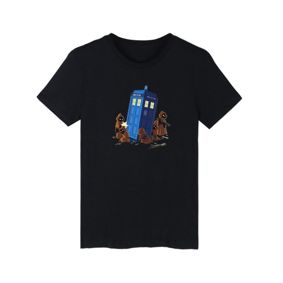 Doctor Who Police Box Casual Short Sleeve T-Shirt 2 Colors-Fandomsky