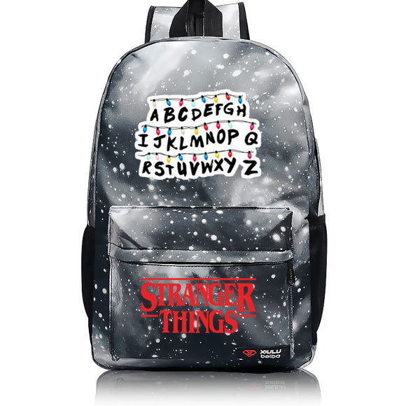 3D Print Stranger Things ABC Backpack School Bag-Fandomsky