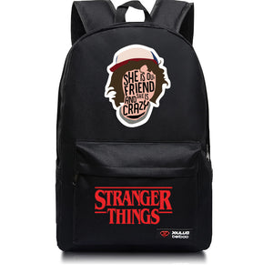 Stranger Things She Is Our Friend Backpack School Bag-Fandomsky