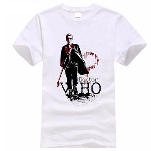 Doctor Who Logo Casual Short Sleeve T-Shirt 3 Colors-Fandomsky