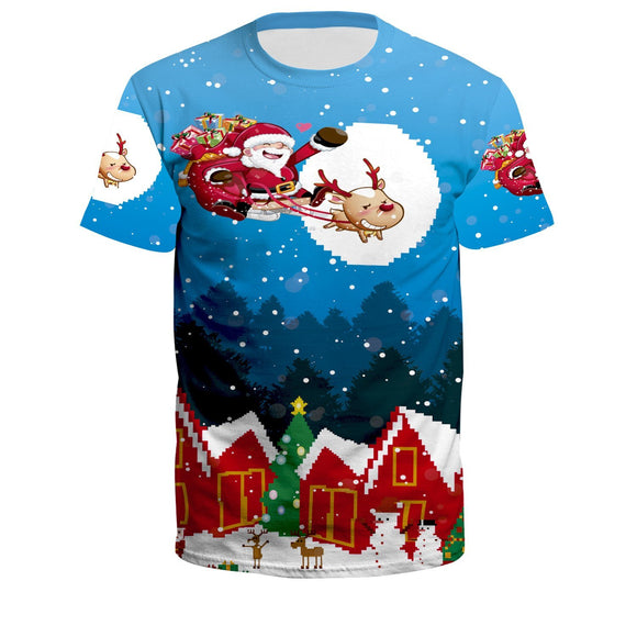 Unisex 3D Creative Print T-Shirt Christmas Casual Graphic Costume