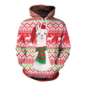 3D Funny Adult Christmas Hoodie Printed Sweatshirt Long Sleeve Tops-Fandomsky