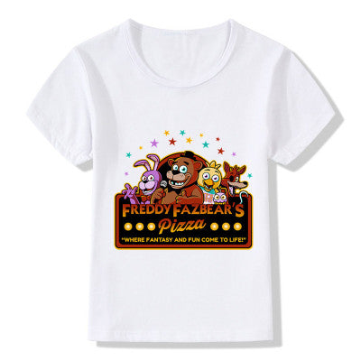 Children's  Five Nights At Freddy's Printed Short Sleeve T-shirt