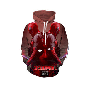 Superhero Deadpool Hoodie Men Women Casual Hoodies-Fandomsky
