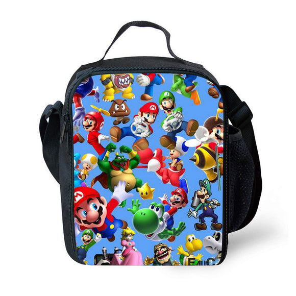 Super Mario Cartoon 3D Print Meal Bag For Kids-Fandomsky