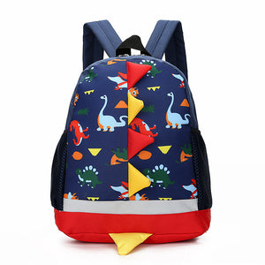 Toddler School Bag Cartoon Dinosaur Animals Backpack Nursery Pre School Rucksack Kids Shoulders Bag Dual Zippered Book Backpack