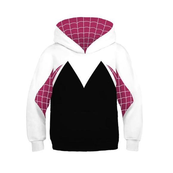 Girls Hoodie Spider-Man: Into the Spider-Verse Spider-Gwen Miles Morales 3D Pullover Sweatshirt Kids