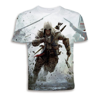 Assassin's Creed Ezio Auditore Da Firenze Logo Men's Short Sleeve Shirts T Shirts Tees-Fandomsky