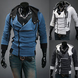 Assassin's Creed Hoodie Sweatshirt Cosplay Costumes Cool Zipper Hoodies Men Plus Size-Fandomsky