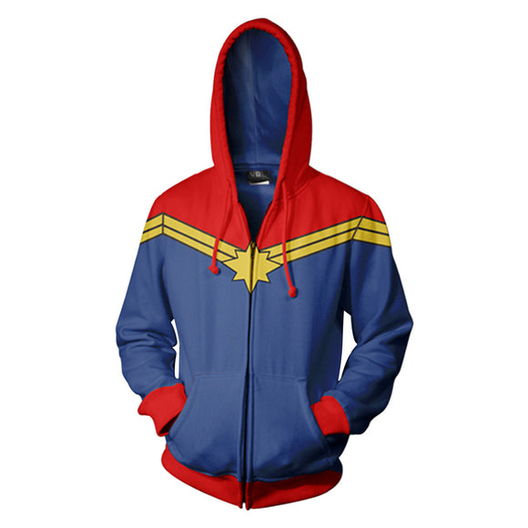 Avengers Captain Marvel Hoodie Hooded Sweatshirt Pullover Costume Unisex