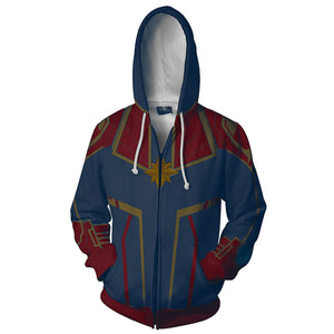 Avengers Captain Marvel Hoodie Hooded Sweatshirt Pullover Unisex