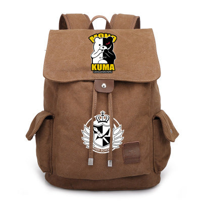 DANGANRONPA MONO KUMA Canvas Backpack-Fandomsky