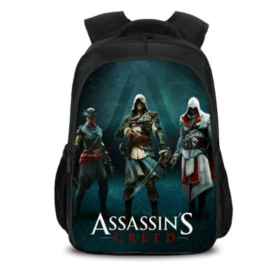 Kids Lightweight Backpack Assassin's Creed Travel Laptop Backpack For Boys And Girls Computer Backpack Bag-Fandomsky