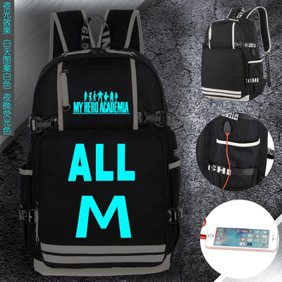 Luminous Boku No Hero Academia Student School Bag Backpack