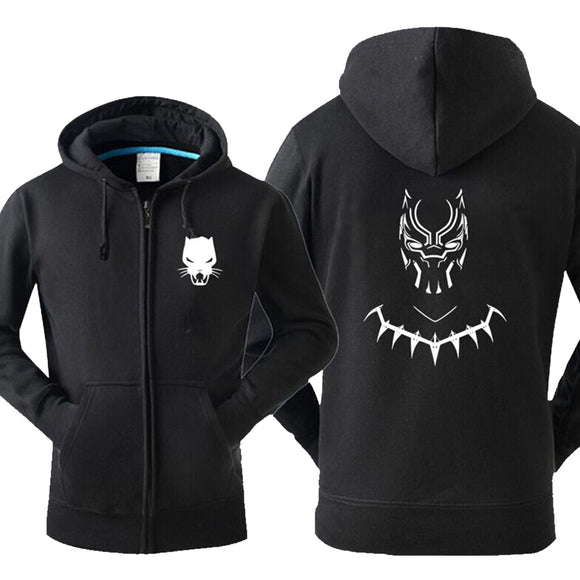 Men's The Avengers Endgame Black Panther Hoodie-Fandomsky