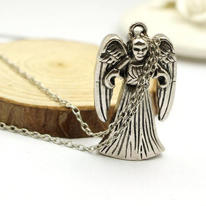 Doctor Who Weeping Angels Pendant Necklace-Fandomsky