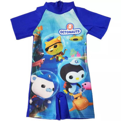 The Octonauts Children's Hot Spring Bathing Suit Swimming Cap Boys One Piece Swimsuit