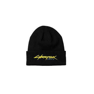 Cyberpunk 2077 Patch Knitted Woolen Skullies Beanie Women Men Cartoon Ski Winter Cap