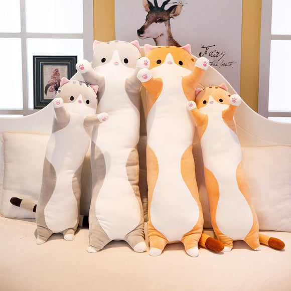 50cm Plush Cute Cat Toys Creative Long Soft Toys Office Lunch Break Nap Sleeping Pillow Cushion Stuffed Doll
