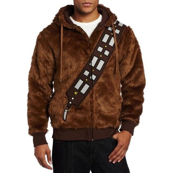 Star Wars I Am Chewie Chewbacca Furry Costume Hoodie Winder Fleece Jacket Adult