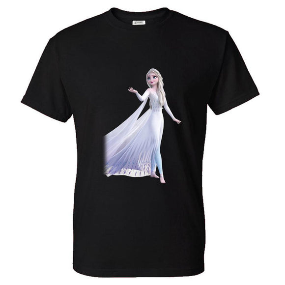Unisex Frozen 2 T-shirt Men Women Summer O-neck T-shirt Casual Street 3D Print Shirts