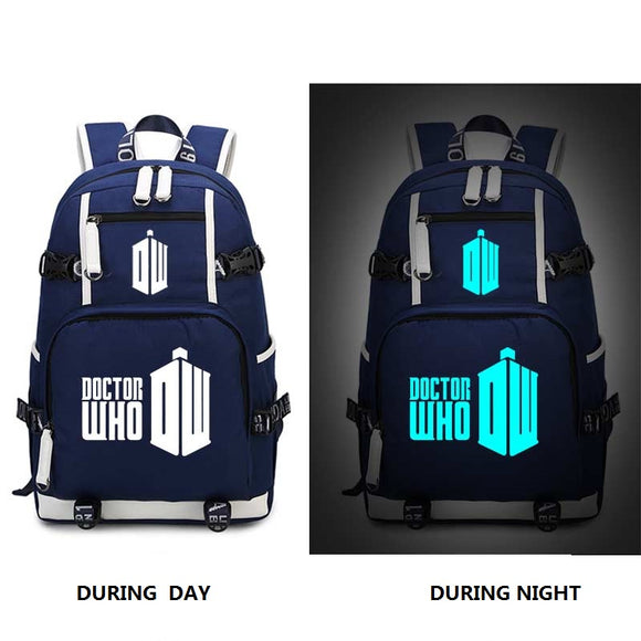 Doctor Who Night Luminescence Backpack 2 Styles-Fandomsky