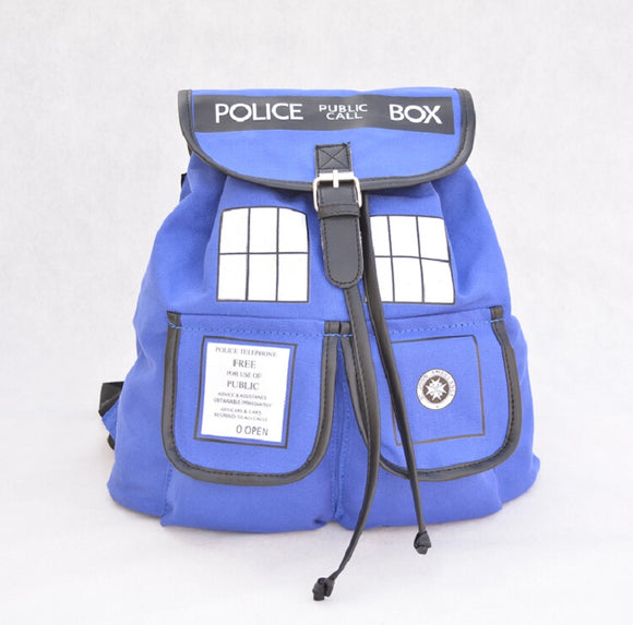 Doctor Who Dr. Blue Tardis Backpack-Fandomsky
