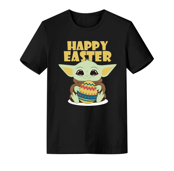 Unisex Happy Easter Baby Yoda T-shirt Easter Bunny Egg Costume Casual Street Shirts