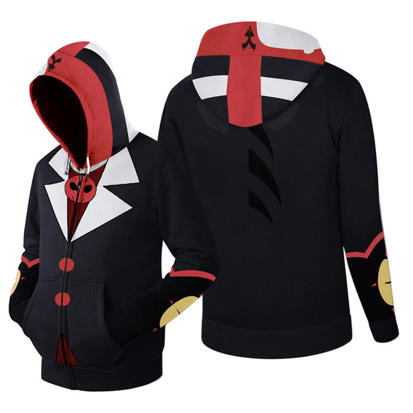 Unisex Hazbin Hotel HELLUVA BOSS BLITZO Cardigan Zip Up Sweater