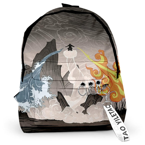 Avatar: The Last Airbender Anime Backpack Student School Bag Anime Fans Gift Travel Backpack Daypack