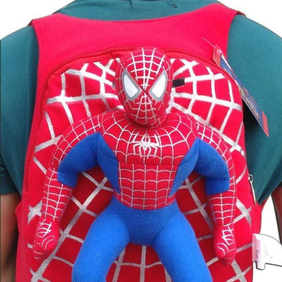 Spiderman Child Kindergarten Plush Backpack-Fandomsky