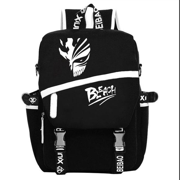 BLEACH Korosaiki Yijigu Canvas Black Backpack-Fandomsky