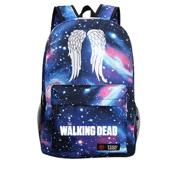 The Walking Dead Backpack Sky Blue Wings-Fandomsky