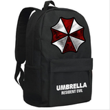 Resident Evil Black Mix Canvas Backpack School Traveling