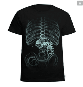 Alien vs.Predator Cotton Black Short Sleeved Mens T-Shirt Casual Clothing Black-Fandomsky