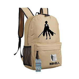 Anime Attack On Titan Backpack Oxford Fabric Off-white-Fandomsky