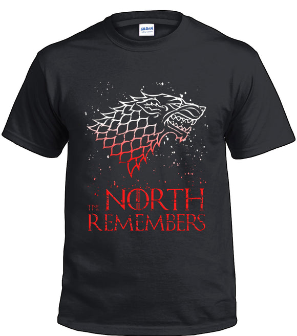 Game Of Thrones Stark North Remembers Black T-Shirt-Fandomsky