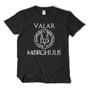 Game of Thrones Valar Morghulis Adult Black T-Shirt-Fandomsky