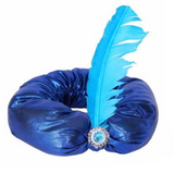 Men's India Aladdin Hat Feather Hat Cap Halloween Costume-Fandomsky