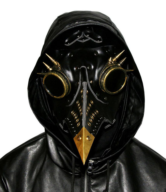Plague Doctor Mask Long Nose Bird Steampunk Beak Halloween Mask-Fandomsky