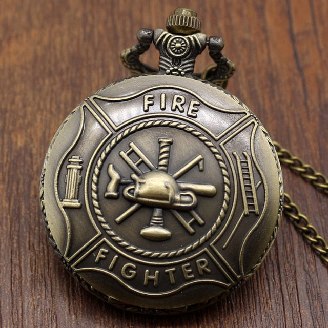 Vintage Bronze Fire Fighter Pocket Watches
