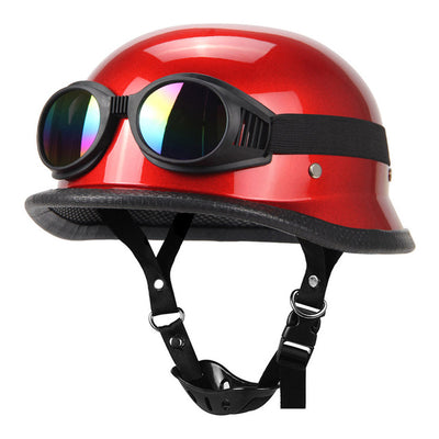 FASHION STYLE GERMAN MOTORCYCLE HALF HELMET DOT