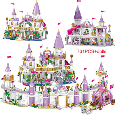 Princess Series Castle Building Blocks Magical Ice Castle Bricks