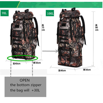100L Extra Large Military Molle Tactical Army Backpack Rucksack