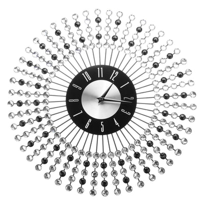 LUXURY DIAMOND CRYSTAL SUNBURST WALL CLOCK