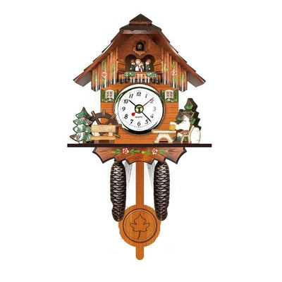 ANTIQUE WOODEN CUCKOO WALL CLOCK