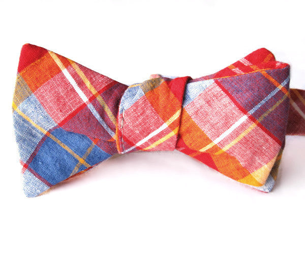 Self-Tie & Adjustable Bow Tie - Corona Heights Plaid