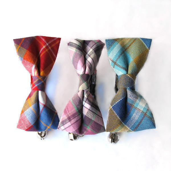 Bow Tie Cat Collars - Various Plaids