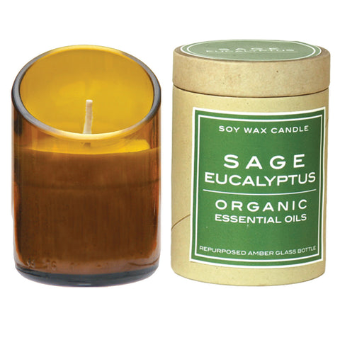 Scented Soy Candle in Recycled Amber Glass